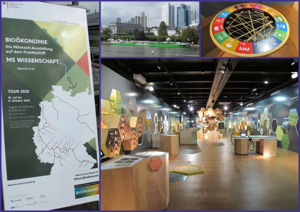 """Ausstellung """"Bioökonomie"""" - MS-Wissenschaft 2020 in Frankfurt am Main - 'Collage'"""